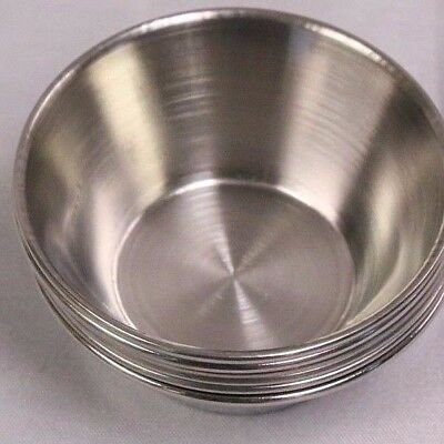 (48 EA) 1.5 OZ Stainless Steel Sauce Cup Ramekin Souffle Heavy Duty Dressing