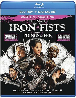 The Man With the Iron Fists (Blu-ray Disc, 2017, canadian) no hd