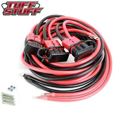Tuff Stuff 25' Ft Winch 2 Gauge Wiring Quick Dis-Connect Kit For Front/rear