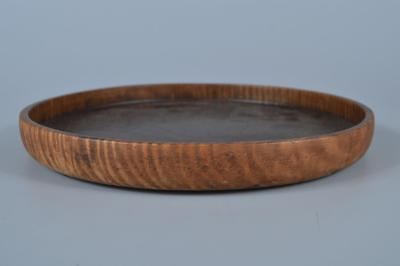 K1275: Japanese Old WOODEN TRAY/plate Senchabon Tea Ceremony