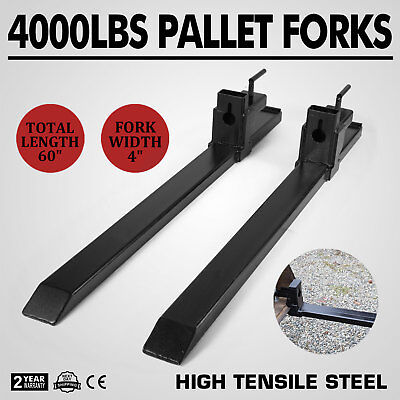 """Clamp on Pallet Forks Loader Bucket 4000lbs Capacity 43"""" Pro Tractor Heavy Duty"""