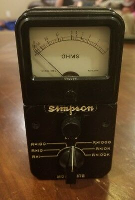 Simpson Model 372 Ohmmeter in great working condition..