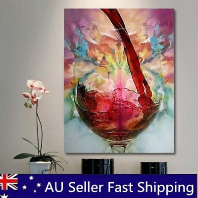 Abstract Red Wine Glass Oil Painting Canvas Wall Art Printed Picture Home Decor