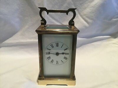 Brass Carriage Clock.