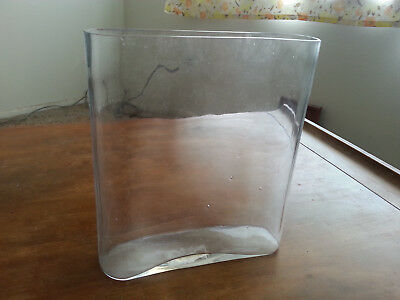 Wet Plate Block Molded Clear Glass Reproduction Bath Tank Collodion