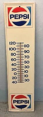 A Large Pepsi Embossed Thermometer Sign