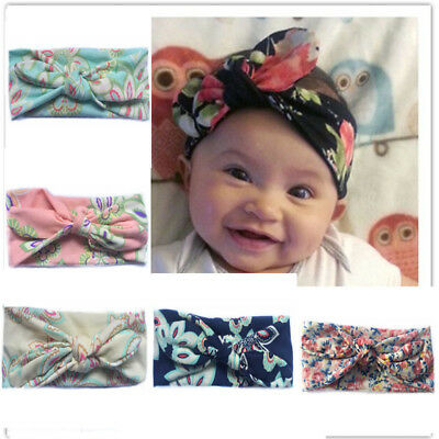 Lovely Baby Girls Kids Hairband Bow Soft Knot Elastic Band Headband Headdress