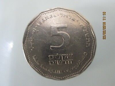 Currency, NIS 5, Israel, collectibles, Judaism
