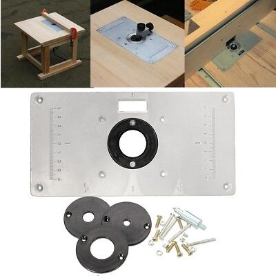 For woodworking benches aluminum router table insert plate with 4 us aluminum alloy router table insert plate 4 rings screws woodworking benches greentooth Image collections