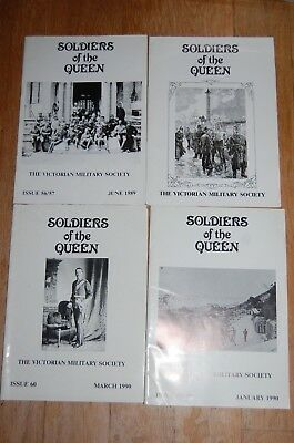 4 Copies of Soldiers of the Queen - Victorian Military Society.