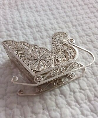 antique silver sled
