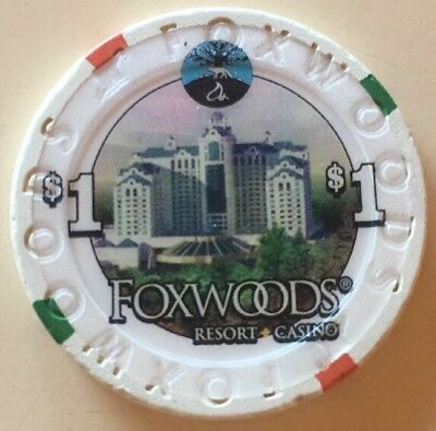 Casino Chip FOXWOODS $1 Rare Hard To Find Gaming Piece Poker Table
