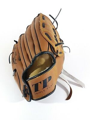 Triple Play 10 Inch Youth Baseball Glove Hand Crafted Leather Laced