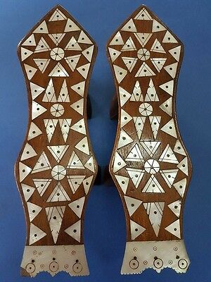Rare Antique Islamic Ottoman Wooden Shoes Imam
