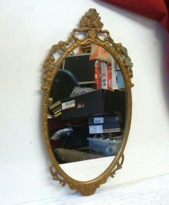 Vintage Gold Gilt Oval Mirror by Atsonea? 54x28cm