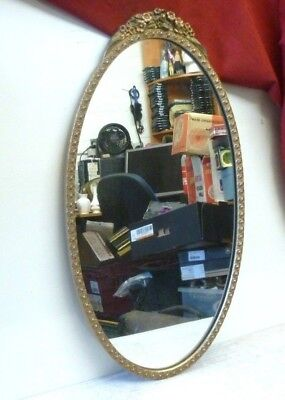 Vintage Gold Gilt Oval Mirror by Atsonea 66x35cm