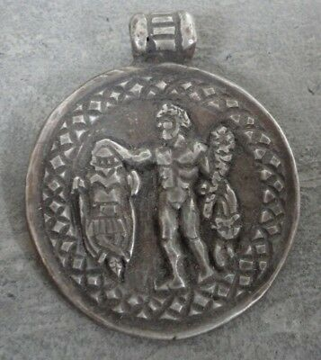 Ancient Roman Legionary Silver Pendant Medallion Senatorial Legionary Artifact
