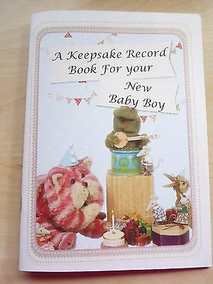 Bagpuss Baby Boy Record Book (Handmade)