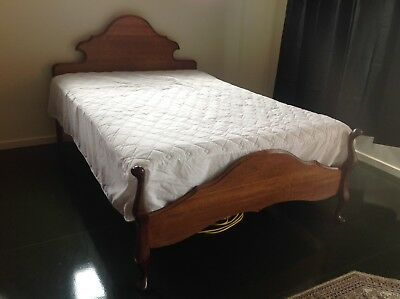 Antique Double Bed Queen Ann Style