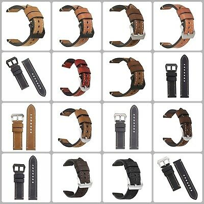 Man Women Handmade Band Vintage Vegetable Tanned Leather Classic Watch Band New