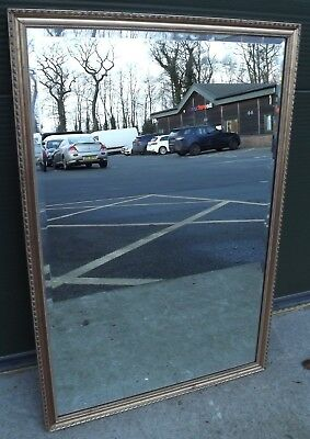 Lovely Decorative Gilt-Framed Bevel-Edged Wall Mirror In The Antique Style