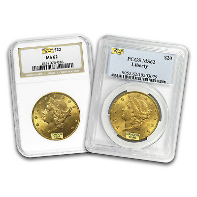 SPECIAL PRICE! $20 Liberty Gold Double Eagle MS-62 PCGS/NGC (Random)-SKU #163632