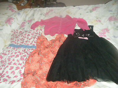 Girls dress bundel and cardigan age 6 .includding F&F and H&M