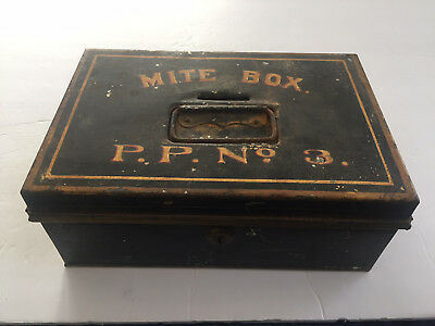 "Antique Metal Church 'POOR' Coin Collection ""MITE BOX / P.P. No. 3"" Pope Paul"