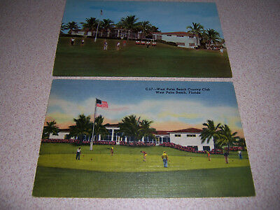 1940s & 50s GOLF GOLFING at WEST PALM BEACH COUNTRY CLUB FLORIDA POSTCARD LOT
