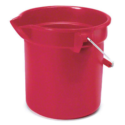 Rubbermaid® BRUTE® Round Bucket - 10 Qt., Red