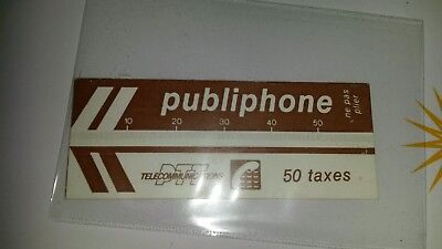 Ticket Thermo Magnétique 50 Taxes Publiphone