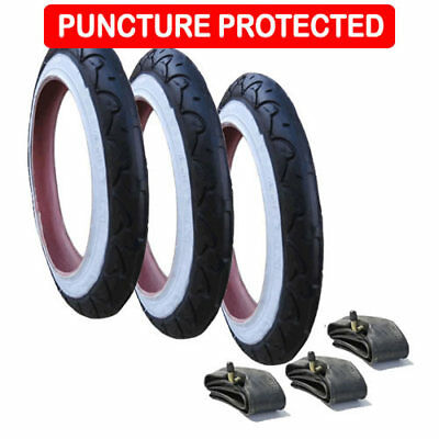 Genuine Phil & Teds Sports Tyres with Inner Tubes Set of 3  Puncture Protected