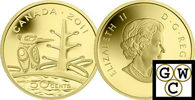 2011 Proof 50-Cent 'Canadian Boreal Forest' 1/25oz Gold .9999 Fine (12913)