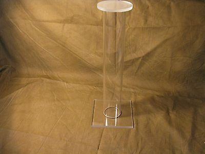 12' Tall Acrylic Civil Indian War  & WW2 Relic Helmet Hat Cap Display Stand