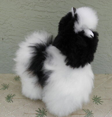 New Handmade By Our Artisan In Peru 11 - 12 inches Standing Plush Alpaca #1958
