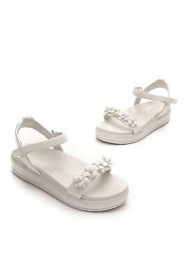 687cea565af PRADA WHITE PATENT Leather Platform Sandals (Size 8.5US) -  179.99 ...