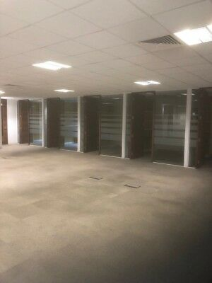 Glass Partitioning-Glass Partitions-Glass Dividers-Glass Doors- 12mm toughened