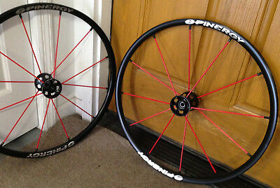 """Pair Spinergy LX Wheelchair Wheels 12 Red Spoke Brand New 24"""" TILITE QUICKIE"""