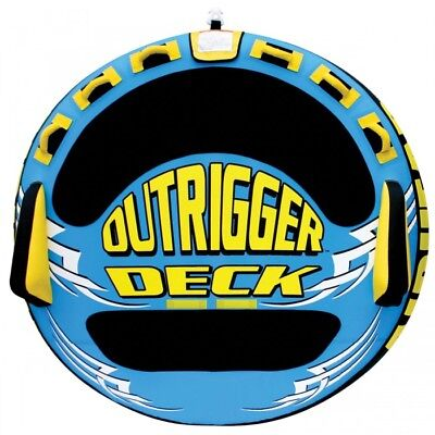 Airhead Outrigger Inflatable Triple Rider Towable Blue/Yellow
