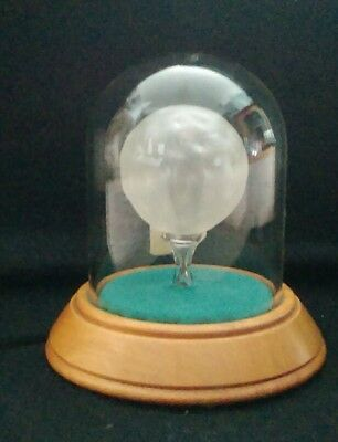 Hand made Glass Golf Ball on Glass Tee in Glass Dome  (4.5 inches approx)