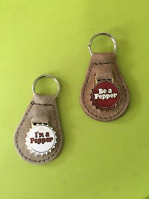 Dr Pepper Two Key Chains 1980's