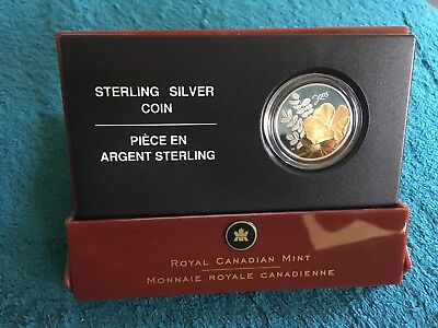 Canada 50 Cent Sterling Silver 2005 Proof Coin Golden Rose