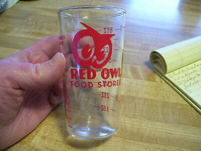 Vintage Red Owl Grocery Store 8 oz Advertising Measuring Glass