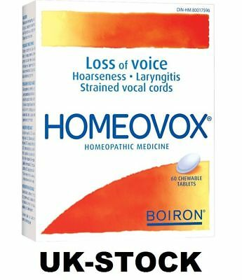 Boiron Homeovox® helps soothe strained vocal cords. 60Tabs UK Stock!