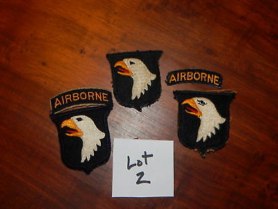 Original WW2 US 101st Airborne PARATROOPER WWII NORMANDY D-DAY PATCH LOT #2