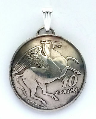 6 Pendant Lot - Greece Pegasus Horse Coin Pendant Jewelry Necklace Myth