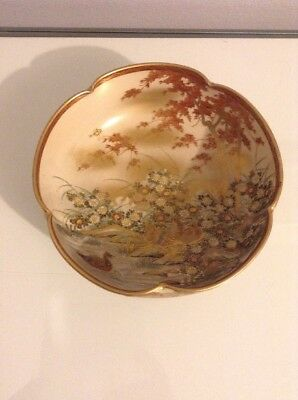 Antique Japanese Satsuma Bowl. Taisho Period 1912-1926