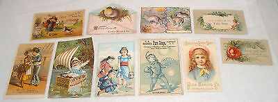 Antique Victorian Advertising Trade Cards Group Lot Soap Curtis Davis Fisk Jones