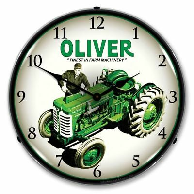 New Oliver Super 55 Farm Tractor  Backlit Lighted Clock - Free Shipping*