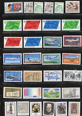 GERMANY-Lot of 50 different stamps from 1980